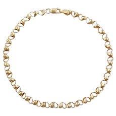"8 1/4"" 10k Gold Heart Bracelet / Anklet"