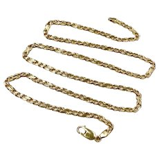 "Figure 8 Figaro 1-1 Link Necklace 14K Gold 16.8 Grams, 23"" Length"