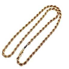 "Rope Chain Necklace 18K Gold 9.5 Grams 18"" Length"