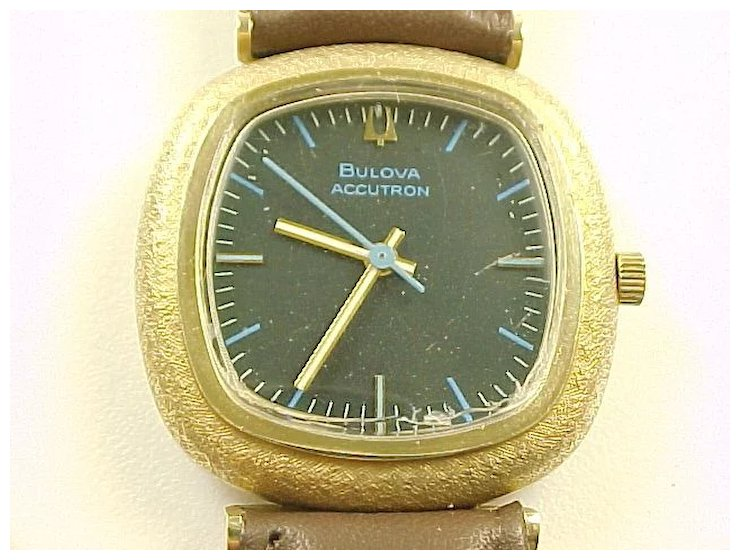 vintage bulova accutron 14k gold mens wrist watch arnold jewelers