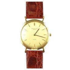 Vintage PATEK PHILIPPE Caltrava 18J ~ Ref.# 3520 Scarce Gents 18K Gold Wristwatch
