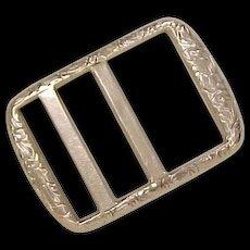 Victorian 10k Gold Belt Buckle Ornate Engraved