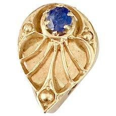 Sapphire Vintage Slide 14K Gold, Add a Slide Bracelet
