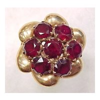 Vintage Hand Crafted Ring 18K Gold & Garnet 8.75 ctw Circa 1950's