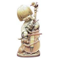 "ANRI 10"" The Quintet Carved Wood Figure By Ferrandiz"