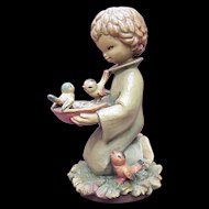 "ANRI / Ferrandiz ""Sharing"" 6 Inch Figure, Wood Carving"