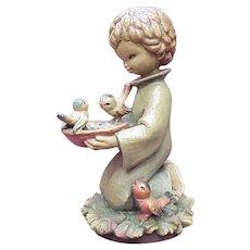 "ANRI / Ferrandiz ""Sharing"" 6 Inch Figure, Wood Carving"
