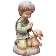 "ANRI / Ferrandiz ""The Prayer"" 6 Inch Figure, Wood Carving"