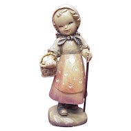 "ANRI / Ferrandiz Ltd Ed TO MARKET, 6"" Carved Wood Figure"