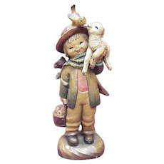 "ANRI / Ferrandiz ""Friendship Shepherd"" 6 Inch Figure, Wood Carving"