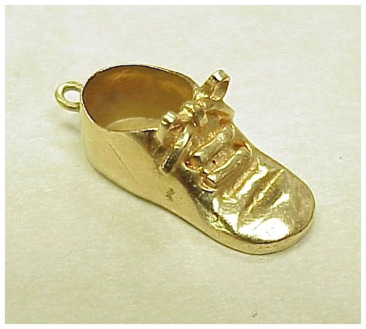 Wonderful Vintage 14k Gold Charm BABY Shoe or Bootie 1960's : Arnold  MD64