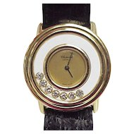Chopard Designer HAPPY Diamond Watch 18k Gold
