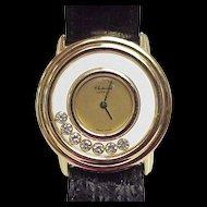Chopard Designer HAPPY Diamond Watch 18k Gold