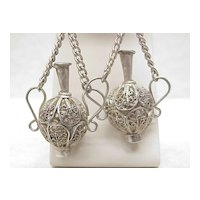 Vintage Hand Crafted Filigree Dangle Earrings