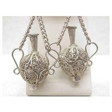 Vintage Hand Crafted Filigree Dangle Earrings