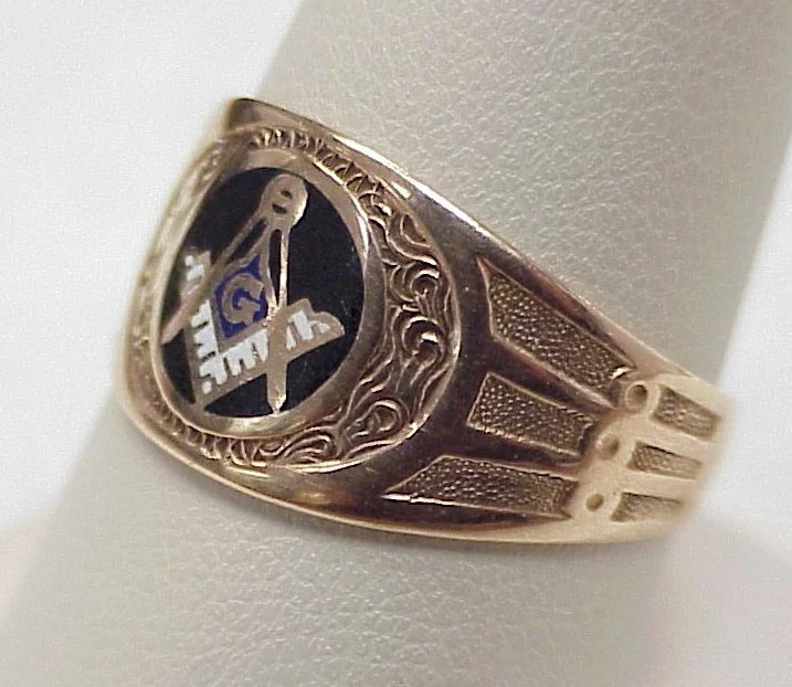 Mens K Gold Fraternity Ring With Ruby Vintage