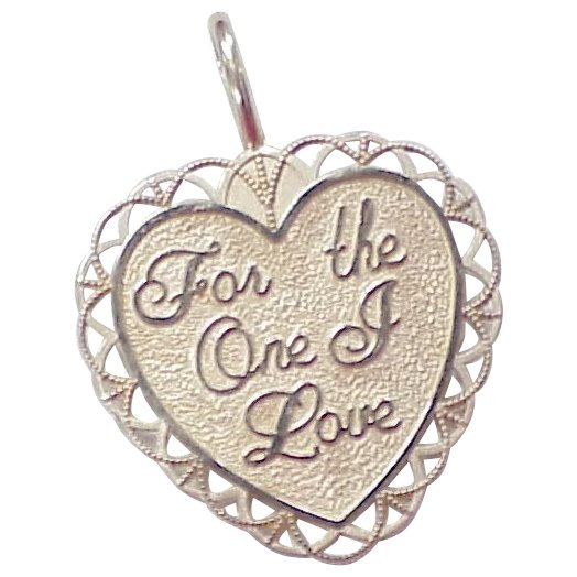 Vintage 14k Gold Charm ~ Romantic HEART One Love : Arnold ...