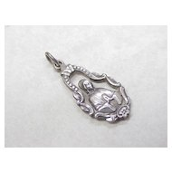 Vintage Ornate Pendant Sterling Silver Pierced Detail
