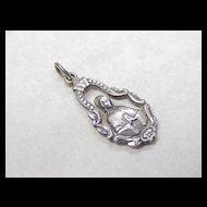 Vintage Ornate Pendant Sterling Silver Pierced Detail
