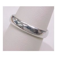 Platinum Wedding Band / Ring 4mm Wide Size 9-1/2