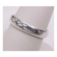 Platinum Wedding Band / Ring 4mm Wide Size 9-1/2