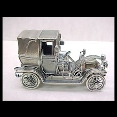 Vintage Sterling Silver Miniature 1911 Renault Taxi Automobile