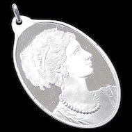 Suisse Pamp Pendant 1/2 Ounce Fine Silver CAMEO