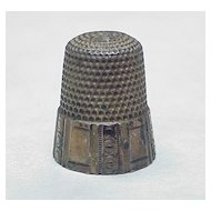 Waite Thresher Co Antique Sterling Silver Thimble size 12