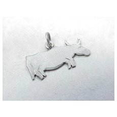 Vintage Hand Crafted Charm ~ STEER, Bull or Cow