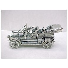 Vintage Sterling Silver Miniature 1907 Thomas Sixty Horse Automobile