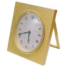 Vintage Tiffany & Co Brass Alarm Clock, Manual Wind
