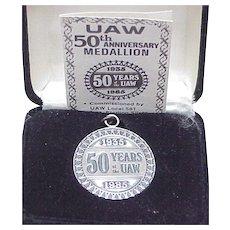 UAW 50th Anniversary Medallion 1oz Sterling Silver
