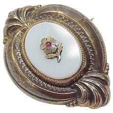 Victorian Pendant / Brooch, Sentimental Forget Me Not
