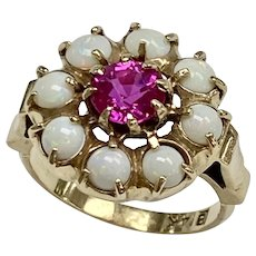 Ruby & Opal Edwardian Ring 2.33 tgw 14K Gold