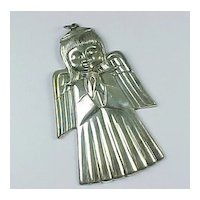 1975 Gorham Christmas Angel Sterling Silver Ornament FIRST in Series