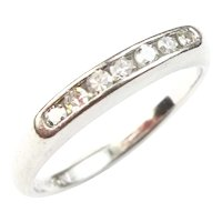 Art Deco Platinum 0.14 Carats Diamond Band, All Original 1920's