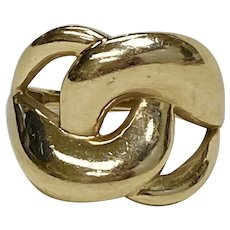 Big Chain Link Style Ring 10K Gold, Turkey size 7