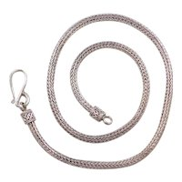 "Sterling Silver Oxidized Woven Chain ~ 18"" ~37.5 Grams"