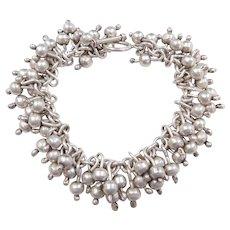 """Sterling Silver Bead Bracelet ~ 7 1/2"""""""
