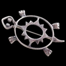 Sterling Silver Turtle Pin / Brooch