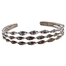 Sterling Silver Twisted Cuff Bracelet