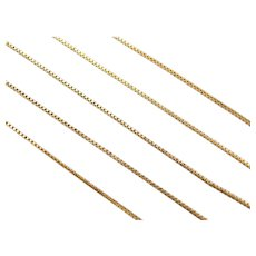 """18"""" Gold Plated Sterling Silver Box Chain"""