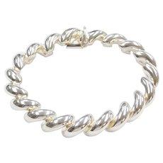 """7 3/8"""" Sterling Silver San Marco Macaroni Bracelet"""