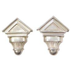 Sterling Silver Geometric Clip On Earrings