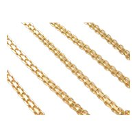 """Flat Link Fashion Chain Necklace Sterling Silver Gold Plated 19-3/4"""" Length"""