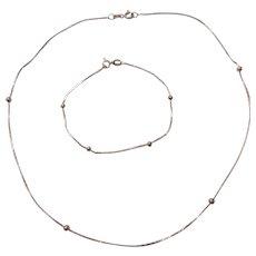 Sterling Silver Bead and Bracelet Set