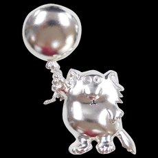 Sterling Silver Cartoon Pin / Brooch