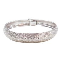 """Sterling Silver Wide Bracelet 8 1/8"""""""