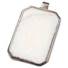Sterling Silver White Stone Pendant