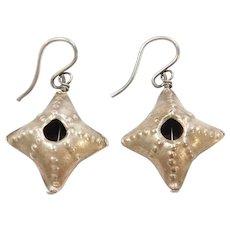 Sterling Silver Sea Urchin Earrings